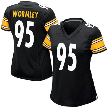 Women's Nike Pittsburgh Steelers Chris Wormley Black Team Color Jersey - Game