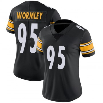 Women's Nike Pittsburgh Steelers Chris Wormley Black Team Color Vapor Untouchable Jersey - Limited