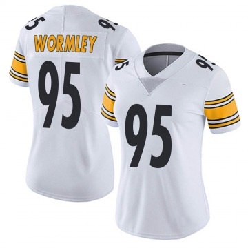 Women's Nike Pittsburgh Steelers Chris Wormley White Vapor Untouchable Jersey - Limited