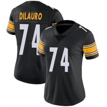 Women's Nike Pittsburgh Steelers Christian DiLauro Black 100th Vapor Jersey - Limited