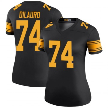 Women's Nike Pittsburgh Steelers Christian DiLauro Black Color Rush Jersey - Legend