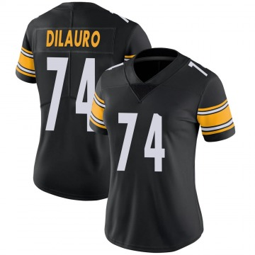Women's Nike Pittsburgh Steelers Christian DiLauro Black Team Color Vapor Untouchable Jersey - Limited
