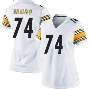Women's Nike Pittsburgh Steelers Christian DiLauro White Jersey - Game