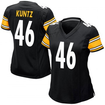 Women's Nike Pittsburgh Steelers Christian Kuntz Black Team Color Jersey - Game