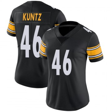 Women's Nike Pittsburgh Steelers Christian Kuntz Black Team Color Vapor Untouchable Jersey - Limited