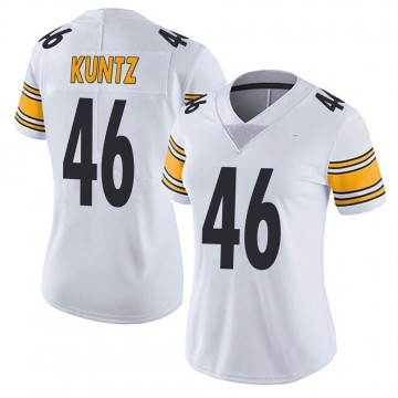 Women's Nike Pittsburgh Steelers Christian Kuntz White Vapor Untouchable Jersey - Limited
