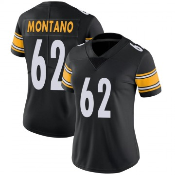 Women's Nike Pittsburgh Steelers Christian Montano Black Team Color Vapor Untouchable Jersey - Limited