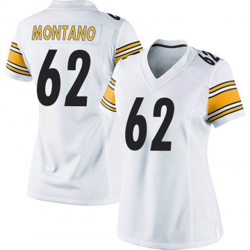 Women's Nike Pittsburgh Steelers Christian Montano White Jersey - Game