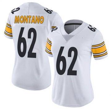 Women's Nike Pittsburgh Steelers Christian Montano White Vapor Untouchable Jersey - Limited
