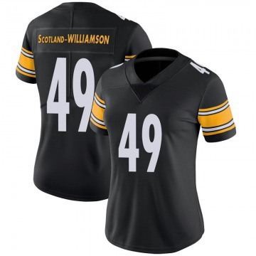 Women's Nike Pittsburgh Steelers Christian Scotland-Williamson Black 100th Vapor Jersey - Limited