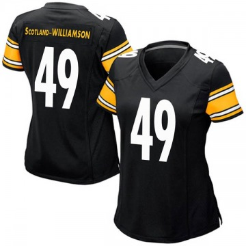 Women's Nike Pittsburgh Steelers Christian Scotland-Williamson Black Team Color Jersey - Game