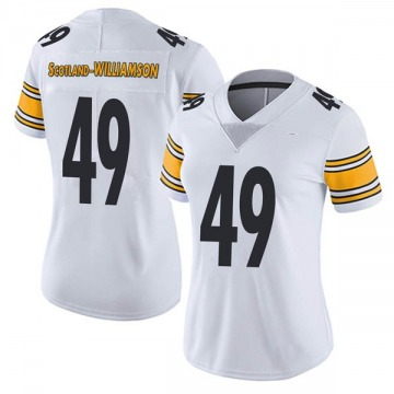 Women's Nike Pittsburgh Steelers Christian Scotland-Williamson White Vapor Untouchable Jersey - Limited