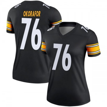 Women's Nike Pittsburgh Steelers Chukwuma Okorafor Black Jersey - Legend