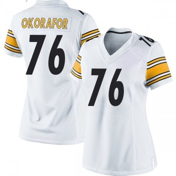 Women's Nike Pittsburgh Steelers Chukwuma Okorafor White Jersey - Game