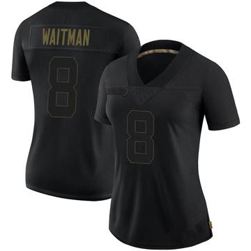 Women's Nike Pittsburgh Steelers Corliss Waitman Black 2020 Salute To Service Jersey - Limited