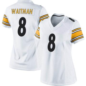 Women's Nike Pittsburgh Steelers Corliss Waitman White Jersey - Game