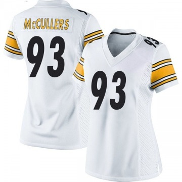 Women's Nike Pittsburgh Steelers Dan McCullers White Jersey - Game