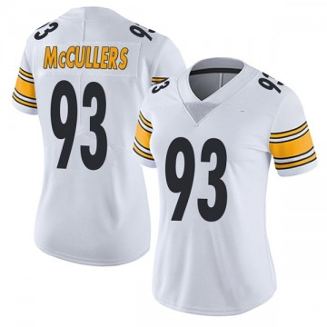Women's Nike Pittsburgh Steelers Dan McCullers White Vapor Untouchable Jersey - Limited