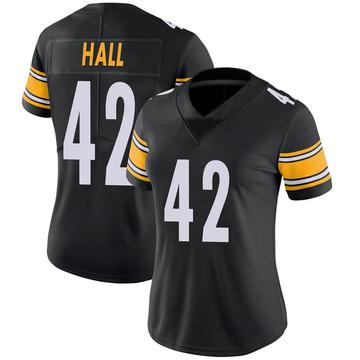 Women's Nike Pittsburgh Steelers Darrin Hall Black 100th Vapor Jersey - Limited
