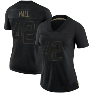Women's Nike Pittsburgh Steelers Darrin Hall Black 2020 Salute To Service Jersey - Limited