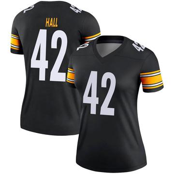Women's Nike Pittsburgh Steelers Darrin Hall Black Jersey - Legend