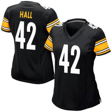 Women's Nike Pittsburgh Steelers Darrin Hall Black Team Color Jersey - Game