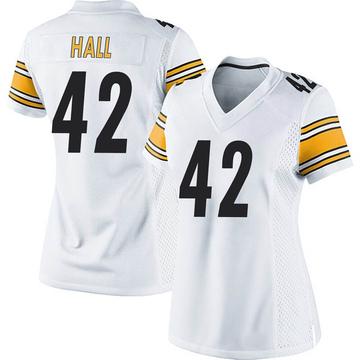 Women's Nike Pittsburgh Steelers Darrin Hall White Jersey - Game