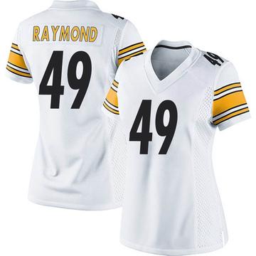 Women's Nike Pittsburgh Steelers Dax Raymond White Jersey - Game