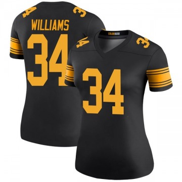Women's Nike Pittsburgh Steelers DeAngelo Williams Black Color Rush Jersey - Legend