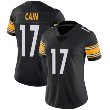 Women's Nike Pittsburgh Steelers Deon Cain Black 100th Vapor Jersey - Limited