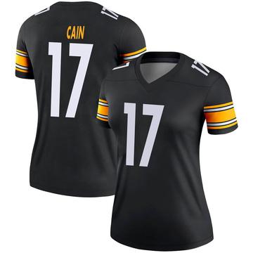 Women's Nike Pittsburgh Steelers Deon Cain Black Jersey - Legend