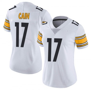Women's Nike Pittsburgh Steelers Deon Cain White Vapor Untouchable Jersey - Limited