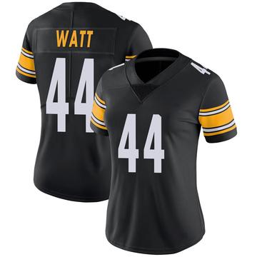 Women's Nike Pittsburgh Steelers Derek Watt Black 100th Vapor Jersey - Limited