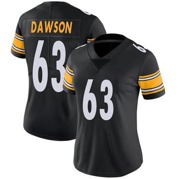 Women's Nike Pittsburgh Steelers Dermontti Dawson Black 100th Vapor Jersey - Limited