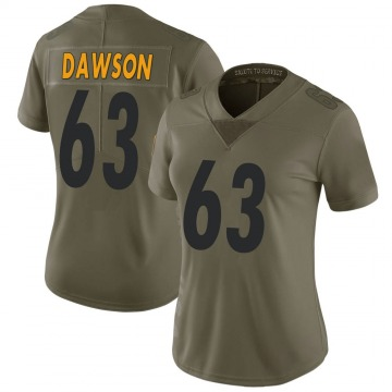Women's Nike Pittsburgh Steelers Dermontti Dawson Green 2017 Salute to Service Jersey - Limited