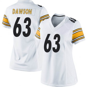 Women's Nike Pittsburgh Steelers Dermontti Dawson White Jersey - Game