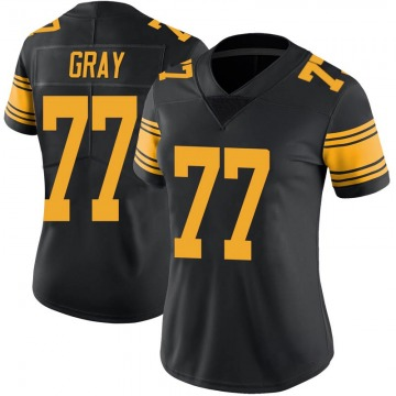 Women's Nike Pittsburgh Steelers Derwin Gray Black Color Rush Jersey - Limited