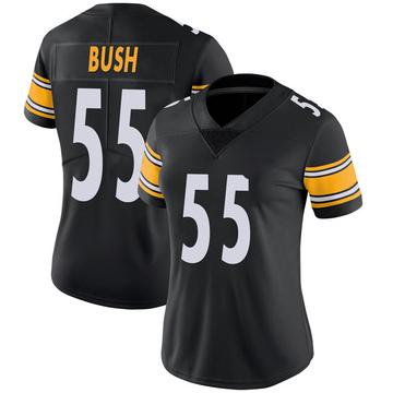 Women's Nike Pittsburgh Steelers Devin Bush Black 100th Vapor Jersey - Limited