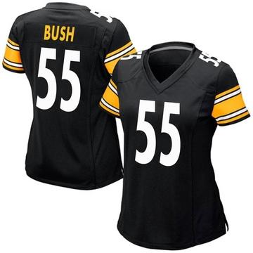 Women's Nike Pittsburgh Steelers Devin Bush Black Team Color Jersey - Game