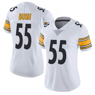 Women's Nike Pittsburgh Steelers Devin Bush White Vapor Untouchable Jersey - Limited