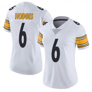 Women's Nike Pittsburgh Steelers Devlin Hodges White Vapor Untouchable Jersey - Limited