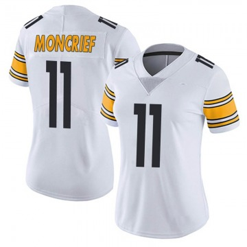 Women's Nike Pittsburgh Steelers Donte Moncrief White Vapor Untouchable Jersey - Limited
