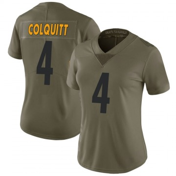 Women's Nike Pittsburgh Steelers Dustin Colquitt Green 2017 Salute to Service Jersey - Limited