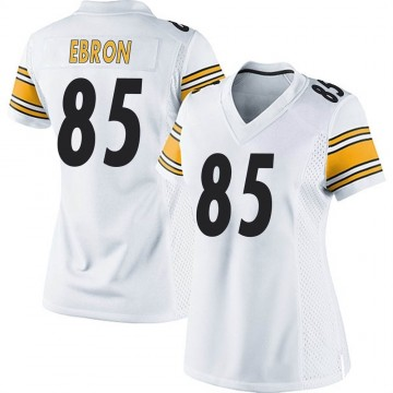 Women's Nike Pittsburgh Steelers Eric Ebron White Jersey - Game