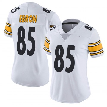 Women's Nike Pittsburgh Steelers Eric Ebron White Vapor Untouchable Jersey - Limited