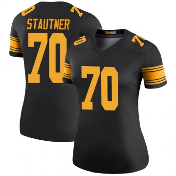 Women's Nike Pittsburgh Steelers Ernie Stautner Black Color Rush Jersey - Legend