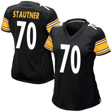 Women's Nike Pittsburgh Steelers Ernie Stautner Black Team Color Jersey - Game