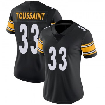 Women's Nike Pittsburgh Steelers Fitzgerald Toussaint Black 100th Vapor Jersey - Limited