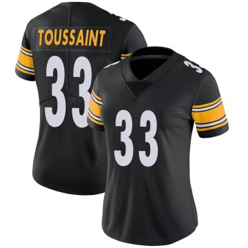 Women's Nike Pittsburgh Steelers Fitzgerald Toussaint Black Team Color Vapor Untouchable Jersey - Limited