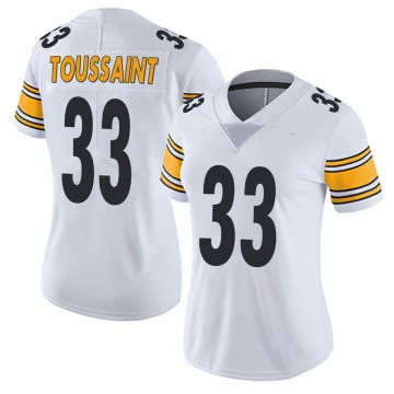 Women's Nike Pittsburgh Steelers Fitzgerald Toussaint White Vapor Untouchable Jersey - Limited